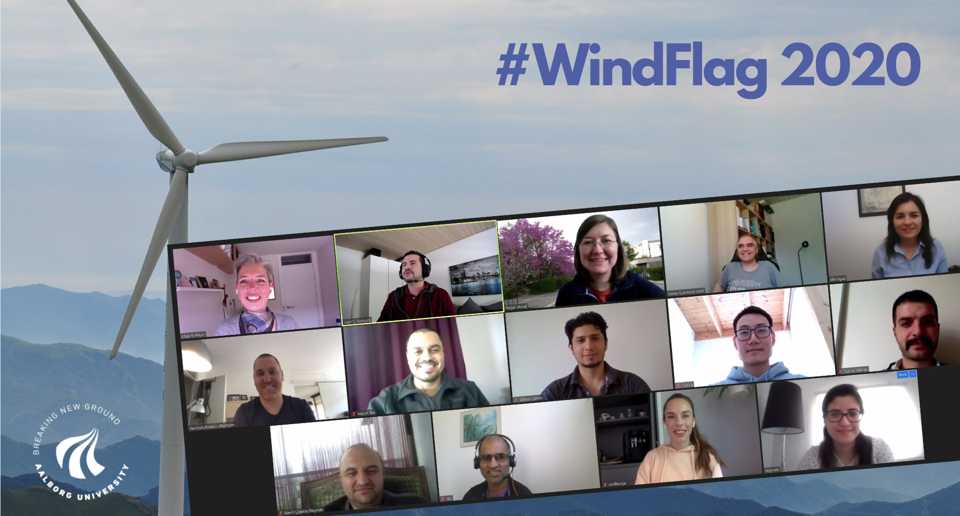 WindFlag project team working from home